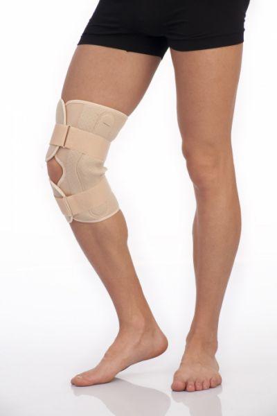 Бандаж на коленный сустав разъёмный с полицентрическими шарнирами неопреновый Тривес Т-8508
