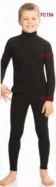 Кальсоны для мальчиков длинные чёрные Clima Control FC151