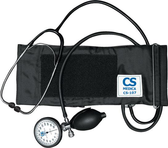 Тонометр механический CS Medica CS-107 со встроенным фонендоскопом, совмещённым манометром