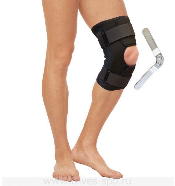 Бандаж на коленный сустав с металлическими шарнирами (материал AirTech) Тривес Т-8518