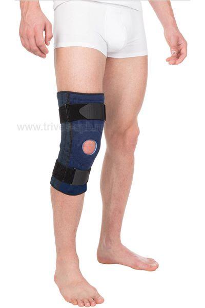Бандаж на коленный сустав неразъёмный с 4-мя пружинными рёбрами Тривес Evolution Т-8591
