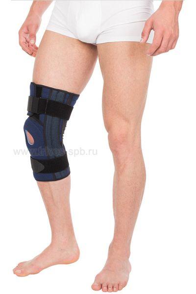 Бандаж на коленный сустав полуразъёмный с 4-мя пружинными рёбрами Тривес Evolution Т-8592