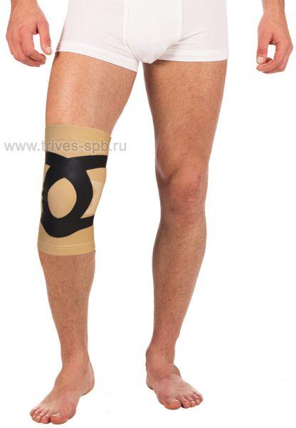 Бандаж эластичный на коленный сустав с усиливающими лентами Тривес Т-8521